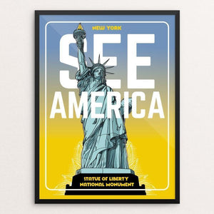 "Statue of Liberty National Monument by Roberlan Borges 12"" by 16"" Print / Framed Print See America"