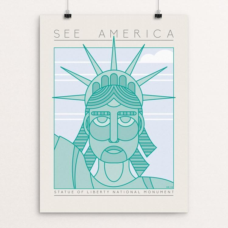 "Statue of Liberty National Monument by Shane Henderson 12"" by 16"" Print / Unframed Print See America"