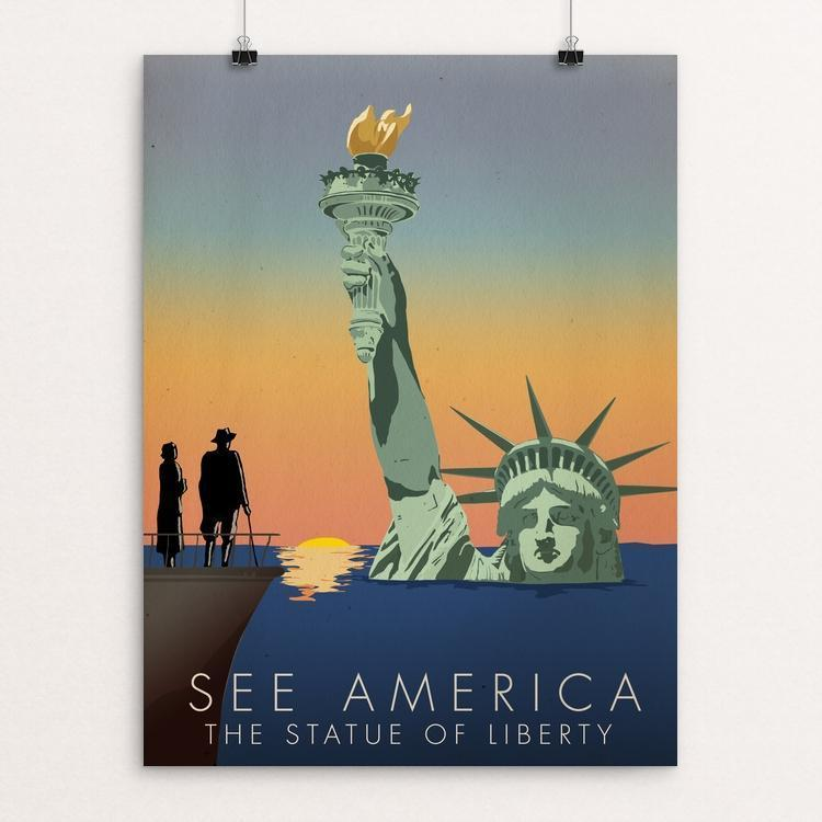 "Statue of Liberty National Monument by Wade Greenberg 12"" by 16"" Print / Unframed Print See America"