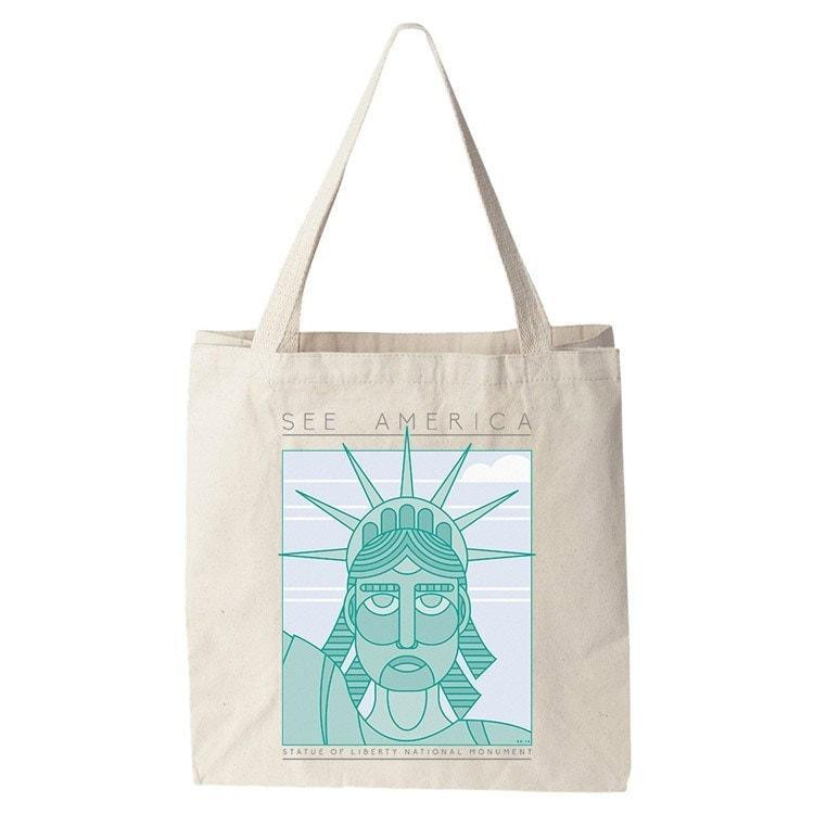 Statue of Liberty National Monument Tote Bag by Shane Henderson Tote Bag See America