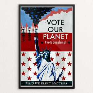 "Statue of Representation by Austin Schlichtman 12"" by 18"" Print / Framed Print Vote Our Planet"