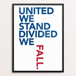 "Stay United! by Lynne Smyers 12"" by 16"" Print / Framed Print Creative Action Network"