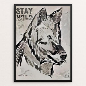 "Stay Wild by Bryan Bromstrup 12"" by 16"" Print / Framed Print Join the Pack"