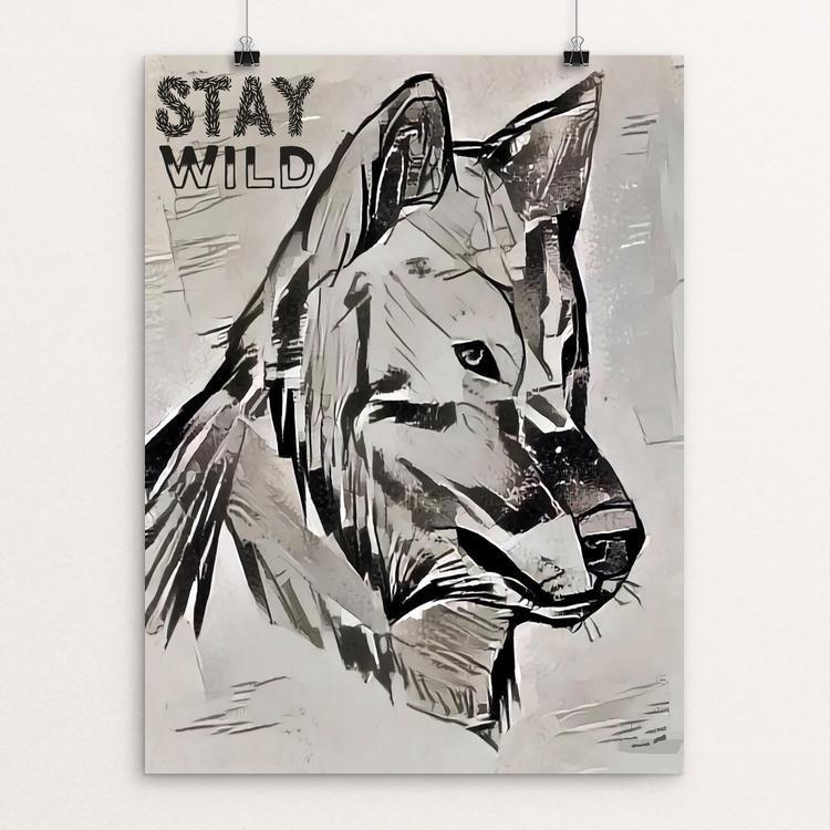 "Stay Wild by Bryan Bromstrup 12"" by 16"" Print / Unframed Print Join the Pack"