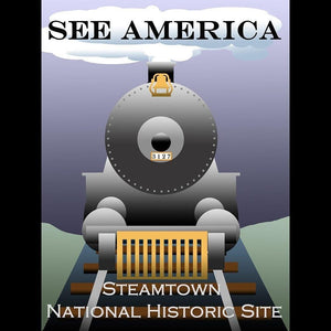 "Steamtown National Historic Site by Ludlowfan 12"" by 16"" Print / Unframed Print See America"