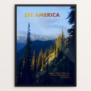 "Stephen Mather Wilderness and Glacier Peak Wilderness by Dan Burwell 12"" by 16"" Print / Framed Print See America"