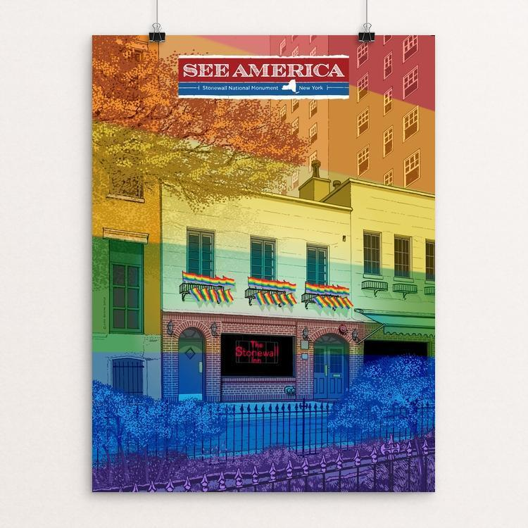"Stonewall National Monument by Brixton Doyle 12"" by 16"" Print / Unframed Print See America"