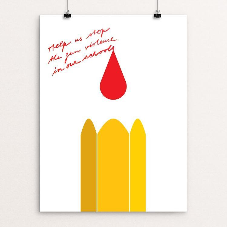 "Stop The Gun Violence In Our Schools by Jan Sabach 12"" by 16"" Print / Unframed Print Creative Action Network"