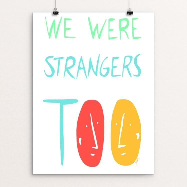 "Stories in Common by Juana Medina 12"" by 16"" Print / Unframed Print We Were Strangers Too"