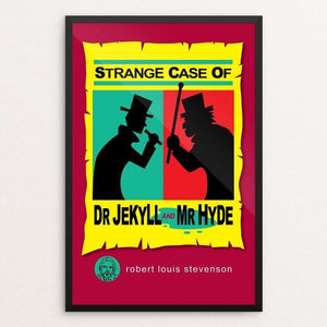 "Strange Case of Dr. Jekyll and Mr. Hyde by Robert Wallman 12"" by 18"" Print / Framed Print Recovering the Classics"