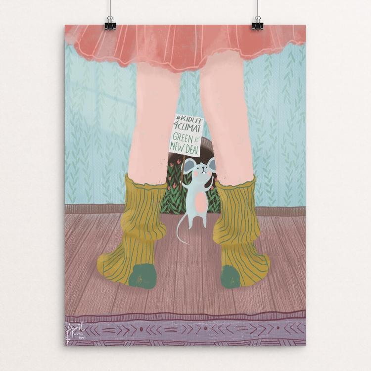 "Strike for all by Anastasiya Ivanova 18"" by 24"" Print / Unframed Print Green New Deal"