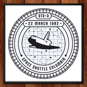 "STS-3 by Seiji Hori 12"" by 12"" Print / Framed Print Space Horizons"