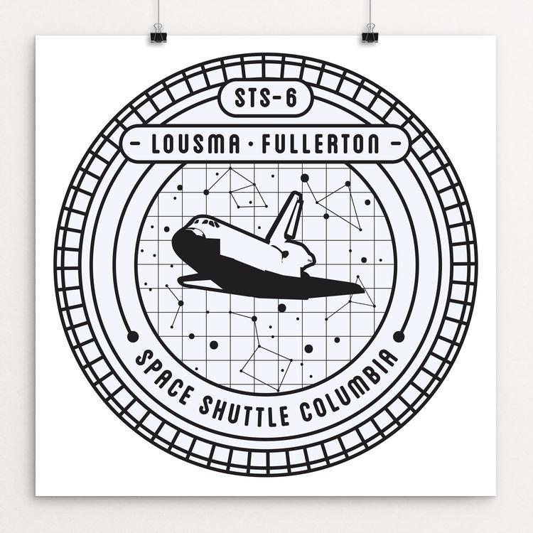 "STS-6 by Seiji Hori 12"" by 12"" Print / Unframed Print Space Horizons"
