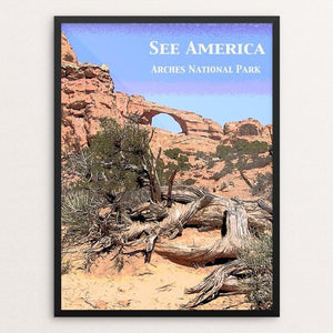 "Sunset Arch, Arches National Park by Jennie Lambert 12"" by 16"" Print / Framed Print See America"