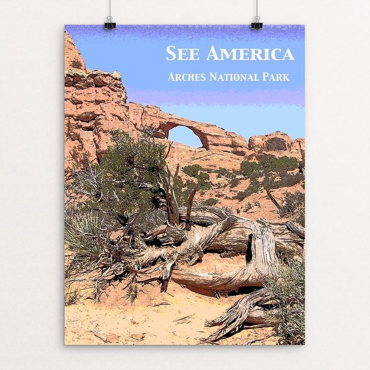 "Sunset Arch, Arches National Park by Jennie Lambert 12"" by 16"" Print / Unframed Print See America"