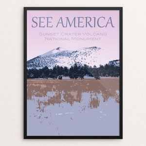 "Sunset Crater Volcano National Monument by Ryan McGinley 12"" by 16"" Print / Framed Print See America"