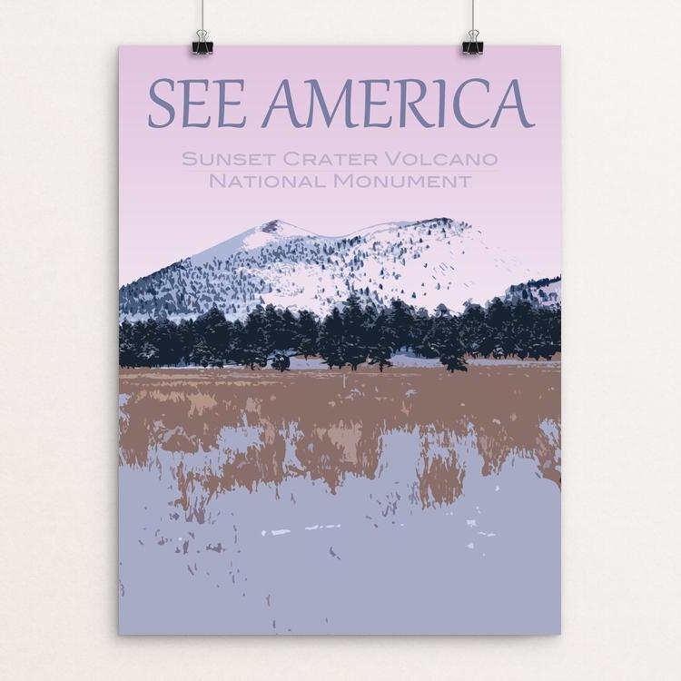 "Sunset Crater Volcano National Monument by Ryan McGinley 12"" by 16"" Print / Unframed Print See America"
