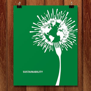 "Sustainability by Jing Zhou 16"" by 20"" Print / Unframed Print Green Patriot Posters"