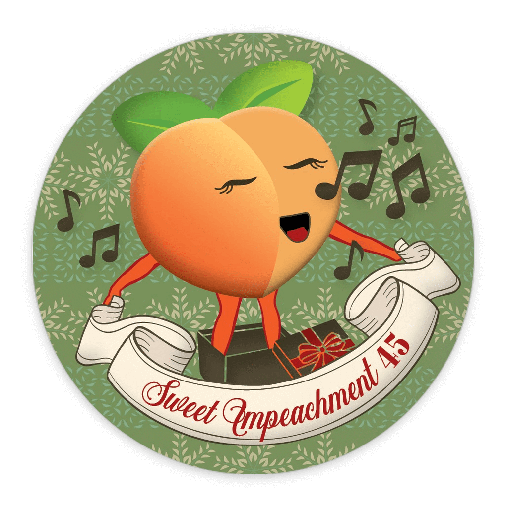 Sweet Impeachment 45 Button by Liza Donovan