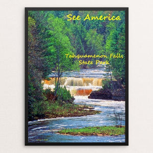 "Tahquamenon Falls by Anthony Chiffolo 12"" by 16"" Print / Framed Print See America"