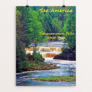 "Tahquamenon Falls by Anthony Chiffolo 12"" by 16"" Print / Unframed Print See America"