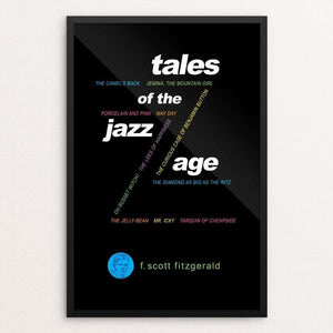 "Tales of the Jazz Age by Robert Wallman 12"" by 18"" Print / Framed Print Recovering the Classics"