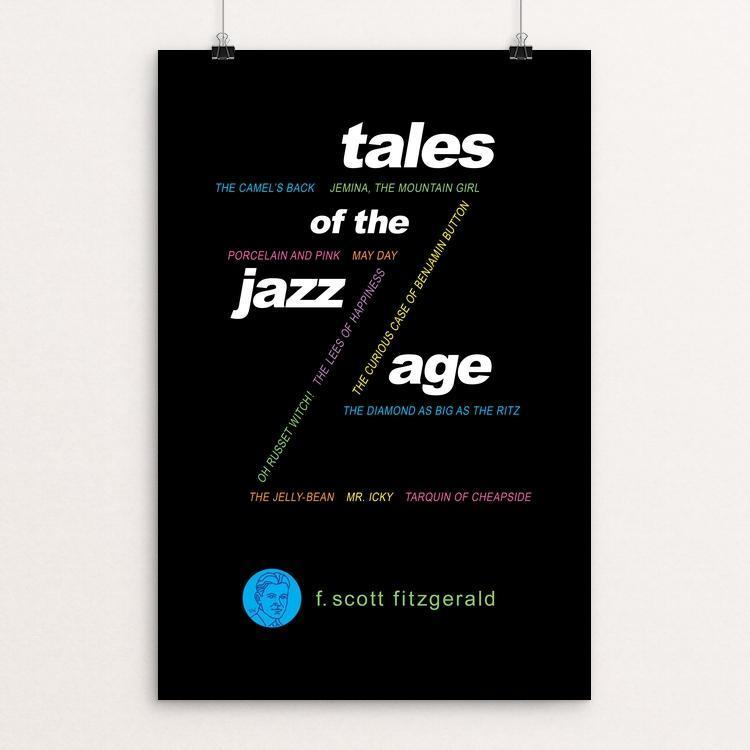 "Tales of the Jazz Age by Robert Wallman 12"" by 18"" Print / Unframed Print Recovering the Classics"