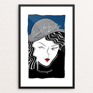 "Tales of The Jazz Age by Shae Synnestvedt 12"" by 18"" Print / Framed Print Recovering the Classics"