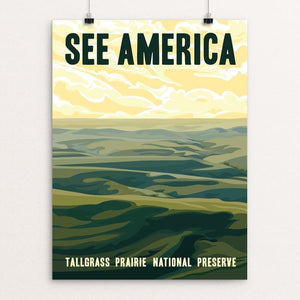 "Tallgrass Prairie National Preserve by Alexis Lampley 12"" by 16"" Print / Unframed Print See America"