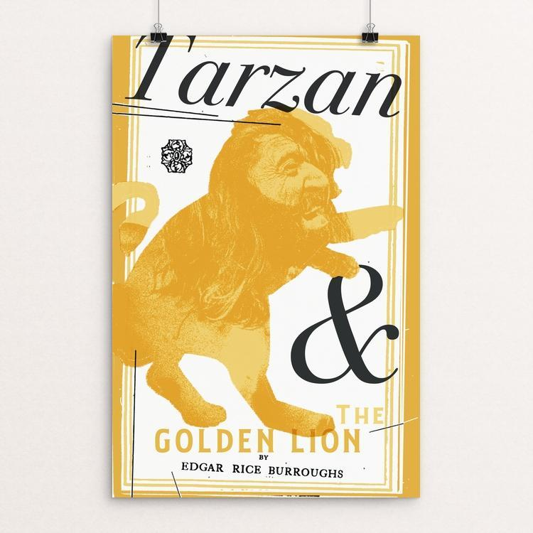 "Tarzan and the Golden Lion by Justin Morales 12"" by 18"" Print / Unframed Print Recovering the Classics"