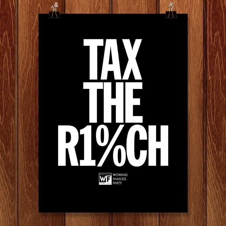 "Tax the Rich 2 by Mr. Furious 18"" by 24"" Print / Unframed Print Working Families P(ART)Y"