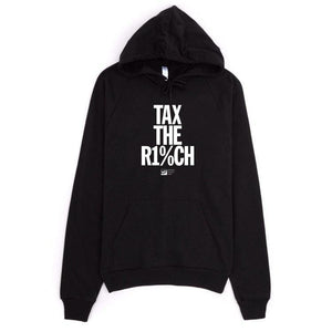 Tax the Rich 2 Hoodie by Mr. Furious S / Black Hoodie Working Families P(ART)Y