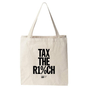 Tax the Rich 2 Tote Bag by Mr. Furious Tote Bag Working Families P(ART)Y