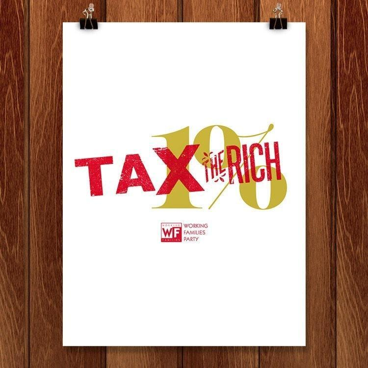 "Tax the Rich by Mr. Furious 18"" by 24"" Print / Unframed Print Working Families P(ART)Y"