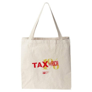 Tax the Rich Tote Bag by Mr. Furious Tote Bag Working Families P(ART)Y