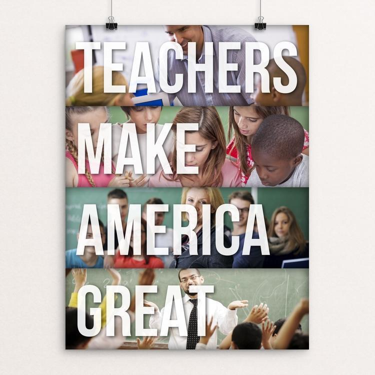 "Teachers by Ed Gaither 12"" by 16"" Print / Unframed Print What Makes America Great"