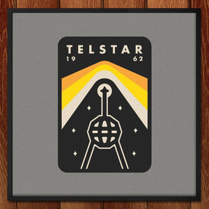 "Telstar by Peter Komierowski 12"" by 12"" Print / Framed Print Space Horizons"