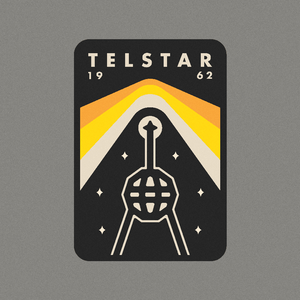 "Telstar by Peter Komierowski 12"" by 12"" Print / Unframed Print Space Horizons"