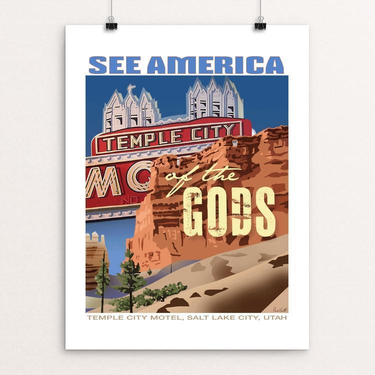 "Temple of the Gods National Monument, Bryce Canyon National Park by Paul Heath 12"" by 16"" Print / Unframed Print See America"