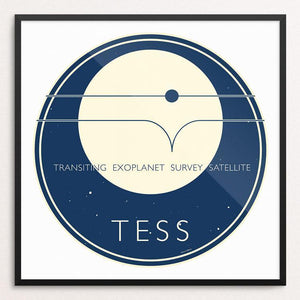 "TESS - NASA's Transiting Exoplanet Survey Satellite by Katarina Eriksson 12"" by 12"" Print / Framed Print Space Horizons"