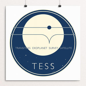 "TESS - NASA's Transiting Exoplanet Survey Satellite by Katarina Eriksson 12"" by 12"" Print / Unframed Print Space Horizons"