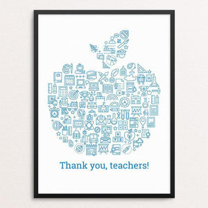 "Thank You, Teachers! by Michael Czerniawski 12"" by 16"" Print / Framed Print Creative Action Network"