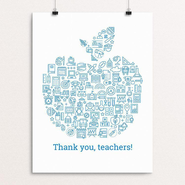"Thank You, Teachers! by Michael Czerniawski 12"" by 16"" Print / Unframed Print Creative Action Network"