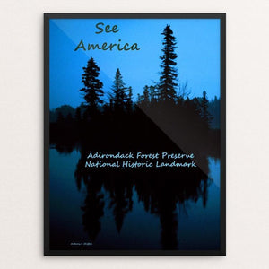 "The Adirondacks by Anthony Chiffolo 12"" by 16"" Print / Framed Print See America"