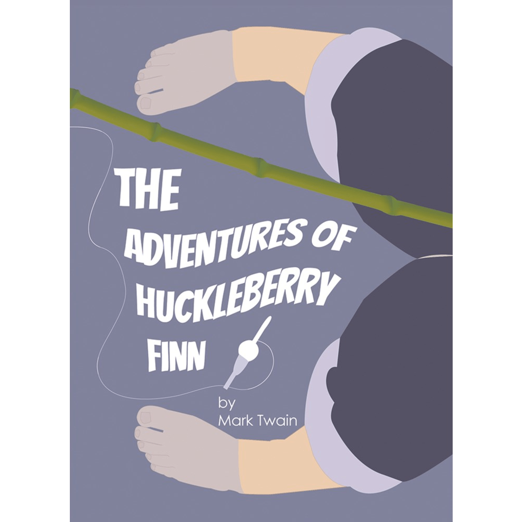 The Adventures of Huckleberry Finn Sticker by E. Michelle Peterson