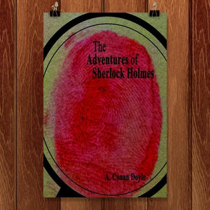 "The Adventures of Sherlock Holmes 2 by Becky Gasper 12"" by 18"" Print / Unframed Print Recovering the Classics"
