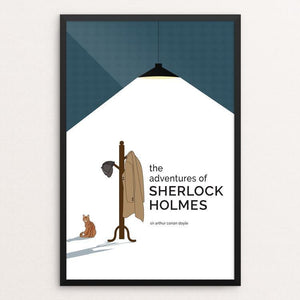 "The Adventures of Sherlock Holmes by Courtney Cox 12"" by 18"" Print / Framed Print Recovering the Classics"