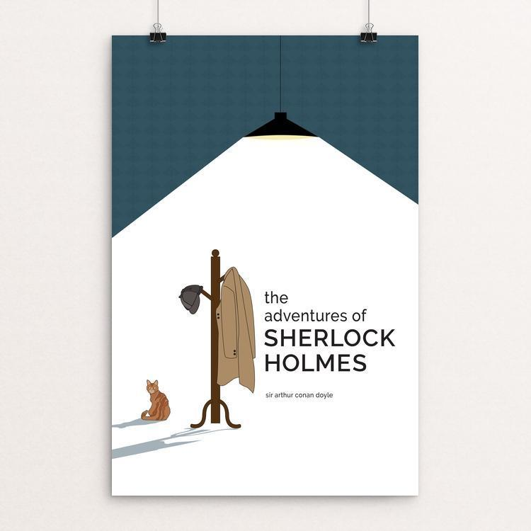 "The Adventures of Sherlock Holmes by Courtney Cox 12"" by 18"" Print / Unframed Print Recovering the Classics"