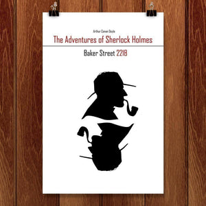 "The Adventures of Sherlock Holmes by Kassandra Black 12"" by 18"" Print / Unframed Print Recovering the Classics"