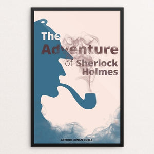 "The Adventures of Sherlock Holmes by Paula Kong 12"" by 18"" Print / Framed Print Recovering the Classics"